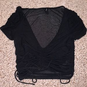 Urban Outfitters Black See-Through Crop Top